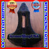MS Hood Black Plated Butted chainmail Round Neck Chain Mail Coif Medieval ArmorE