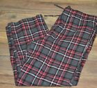 Croft & Barrow Flannel Lounge Pants Men's Pajama Bottoms Red & Gray Plaid