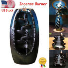 Waterfall Ceramic Glaze Incense Burner Holder Sandalwood Backflow Censer Decor