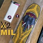 2 MIL Poly Skateboard Deck Storage Bags / Collectors Size 12×36 / Free Shipping!