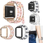 For Fitbit Blaze Watch Fashionable Beaded Elastic Bracelet Band Strap with Frame image