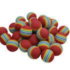 20/50Pcs Red Sponge Golf Balls Light Indoor Outdoor Training Practice Foam AU