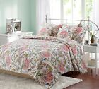Rieth Floral 100% Cotton Reversible Quilt Set, Bedspread, Coverlet image