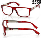 New DG Clear Lens Frame Eye Glasses Designer RX Womens Mens Wrap Fashion Square