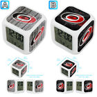 Carolina Hurricanes Digital LED Clock Multi Color Changing Alarm Desk Decor