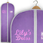 Personalised Embroidered Dress Gift Bag Garment Cover Prom Costume Carrier