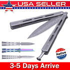 Stainless Steel Knife Folding Knives Outdoor Camping Tool w/ Spring Button US