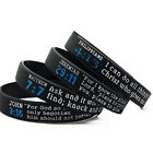 Fashion Bible Verse Wristbands Men Bracelet Silicone Band Bangle image