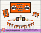 Custom HARLEY DAVIDSON Motor bike MOTORBIKE BIRTHDAY Party Decorations Supplies $25.0 AUD on eBay