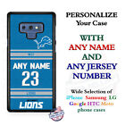 Detroit Lions A18 Personalized Football Phone Case Cover fits Samsung LG etc.
