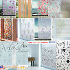 US 1-10m Glass Wall Sticker Static Waterproof Frosted Privacy Adhesive Film Hot
