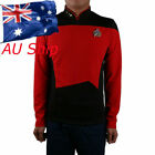 Cosplay Star Trek TNG Red Uniform Star Trek Shirt Starfleet Command Uniform Pin on eBay