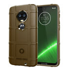 For Motorola Moto G7 Plus/Z3 Z4 Play Soft Rubber Rugged Shield Back Case Cover