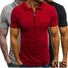 Men's Slim Fit Polo Shirts Short Sleeve Casual Golf T-Shirt Jersey Tops Tee image