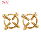 Surgical Steel Non-Piercing Fake Piercing Body Jewelry Nipple Ring Shield