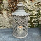Antique Chic Style Metal Ornate French Lantern Oval Rustic Shabby Moroccan