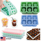 Silicone Ice Cube Ball Shot Glass Mold Chocolate Candy Candle Jello Tray W/ Lid