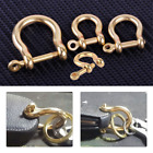 Внешний вид - 1PC Solid Brass D Bow Shackle Screw Pin Joint Connect Key Chain Hook Leather