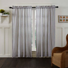 Annie Buffalo Grey Check Farmhouse Lined Cotton Country Cottage Panels 2 Sizes