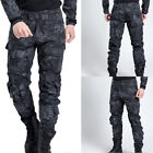 Black Men Pant Work Camo Cargo Military Army Combat Trousers Tactical Airsoft UK