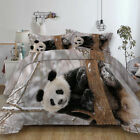Cute Panda Duvet Cover with Pillow Case Quilt Cover Bedding Set All Sizes Animal