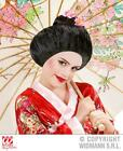 Childrens World Book Day Girls Geisha Japanese Hair Bun Wig Fancy Dress