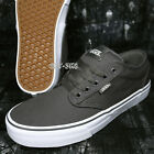 VANS ATWOOD CANVAS PEWTER GREY/GRAY WHITE MEN'S SKATE SHOES /S92150.182