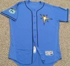 Tampa Bay Rays 2017 Spring Training Game Issued Jersey with blank back Flex Base