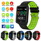 Sports Blood Pressure Heart Rate Fitness Smart Watch Wrist Bracelet Waterproof image