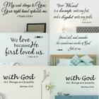 Removable Modern Letters Proverbs Bible Verse Wall Art Stickers Home Wall Decor