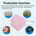 10/50Pcs Dust Face Mask Fold Flat Valved 5 Layer PM 2.5 Respirator Disposable