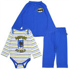 """Kids with Character Batman 3 Piece Winter Outfit """"I'm a Hero"""" Blue"""