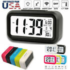 Digital Snooze LED Alarm Clock Backlight Time Calendar Thermometer Temperature R