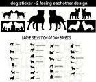 Dog Stickers Car Wall Laptop Window Kennel Dog Breed Vinyl Decal Large Selection