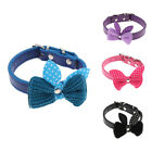 Adjustable Pet PU Leather Flowers Pattern Collar Puppy Cat Grooming Necklace