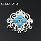 5PCS Tibetan Silver Connector Red / Turquoise Charms Pendant DIY Crafts Necklace