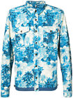 New MONCLER Trionphe Blue Hawaiian Pattern Shirt Jacket Coat Sizes 2 and 3