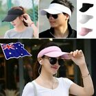 Women Visor Sun Hat Sport Outdoor Adjustable Tennis Golf Summer Hiking Cap MN