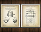 Baking Set of 2 Patent Prints Rustic Kitchen Decor Vintage Poster Wall Art Gift