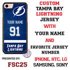 Tampa Bay Lightning Personalized Hockey Jersey Phone Case Cover for iPhone etc.
