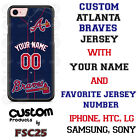 Atlanta Braves Personalize Blue Baseball Jersey Phone Case Cover for iPhone etc on Ebay
