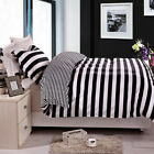 NTBAY 3 Pieces Duvet Cover Set, Reversible Black and White Striped (King/Queen) image