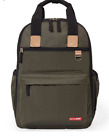 Skip Hop Duo Diaper Backpack Tote NWT Olive Green Changing Pad
