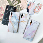 For Huawei P20 Mate 20 Pro Lite Matte Marble Pattern Soft TPU Rubber Cover Case