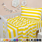 Ultra Soft Cozy Luxury Microfiber Toddler Fitted Sheet Flat Sheet Pillowcase 3pc image