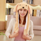 Plush Animal Rabbit Ear Hat Bunny Cap Jumping Ear Movable Gift Vintage Casual