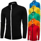 New Men's Mixed Color Casual Slim Jacket Fashion Printing Classic Jacket 13
