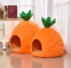 Pet Cat House Foldable Soft Winter Dog Bed Pineapple Shape Dog House Cutes Warms