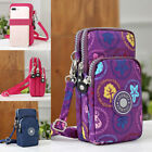 Uk Women Mobile Phone Shouler Wrist Pouch Bag Coin Wallet Purse