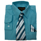 Boys Dress Shirts with Matching Tie and Hanky New Colors Vangogh Sizes 2T to 20
